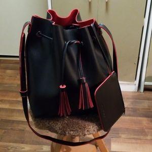 NWOT Steve Madden handbag black red